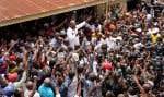 Martin Fayulu s'est adressé à ses militants, de la coalition Lamuka, rassemblés vendredi à Kinshasa. Les militants scandaient des chansons hostiles à Félix Tshisekedi.