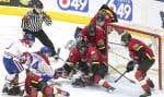 Les Canadiennes de Montréal et l'Inferno de Calgary se sont affrontés en finale de la Ligue canadienne de hockey féminin, le 24 mars dernier.