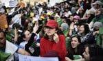 Plusieurs milliers d'étudiants ont manifesté, comme chaque mardi depuis le début du mouvement populaire de contestation le 22février.