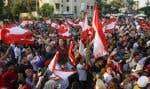 Des manifestants contre la classe politique libanaise rassemblés à Sidon, dans le sud du pays, lundi