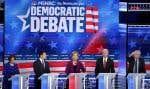 Malgré leur union contre Donald Trump, menacé par une procédure de destitution, les quatre grands candidats ont nettement exposé leurs différends.
