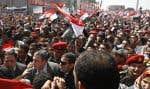 Essam Charaf s'est rendu place Tahrir, au Caire.