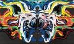 Jacques Hurtubise, Chichirico, 1987, acrylique sur toile, 51 x 122 cm