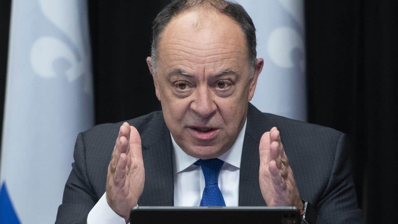 Le ministre de la Santé du Québec, Christian Dubé