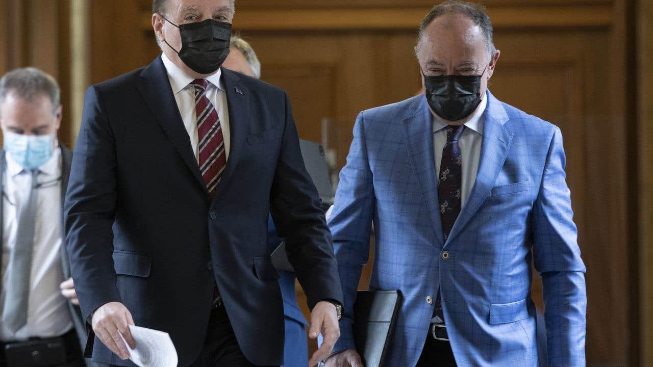 Le premier ministre, François Legault, et le ministre de la Santé, Christian Dubé