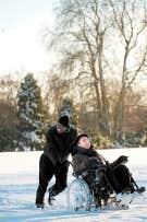 Les deux vedettes du film, Omar Sy et Franc?ois Cluzet. <br /> <br />