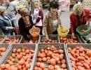 Marché de fruits et légumes dans le sud de la France. Les prix des aliments ont reculé de 0,3% en août.