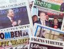 Tous les journaux suédois faisaient lundi la une avec les résultats de l'élection.