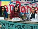 Viviana Medina, porte-parole du Centre des travailleurs immigrants, Linda Guerry, porte-parole du collectif Éducation sans frontières, et Romina Hernandez, porte-parole de Solidarité sans frontières, ont demandé le retour au pays de «Daniel», un jeune de 17 ans expulsé en octobre dernier.