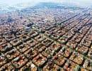 Vue aérienne du quartier de l'Eixample, à Barcelone