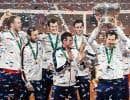 Andy Murray et ses coéquipiers de l'équipe de la Grande-Bretagne célèbrent leur victoire en finale de la coupe Davis.