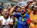 Des manifestants se sont rassemblés à Caracas à la fin du mois de juillet pour réclamer la tenue d'un référendum sur le sort de Nicolas Maduro.