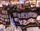 <p>Les manifestants se sont d'abord rassemblés en début de soirée dans le quartier Hochelaga-Maisonneuve, sur la rue Ontario.</p>