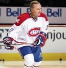 Guy Lafleur, ancien joueur des Canadiens de Mont&eacute;al, &agrave; la c&eacute;l&eacute;bration des 100 ans du club.<br />